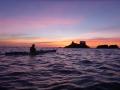 Icho Tower at sunset P1090227